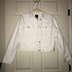 NWT GAP White Denim Crop Jacket size Medium